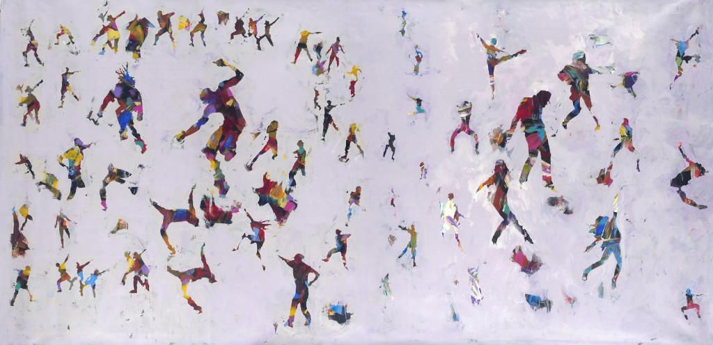 100x58 mixed media on canvas