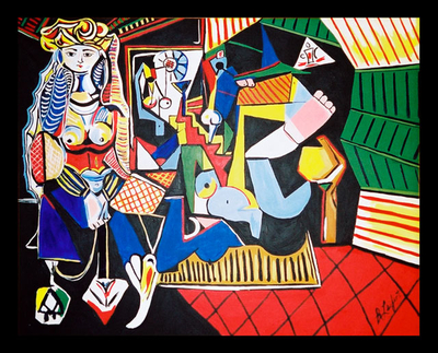 """""""Queen of Hearts"""" After Picasso"""