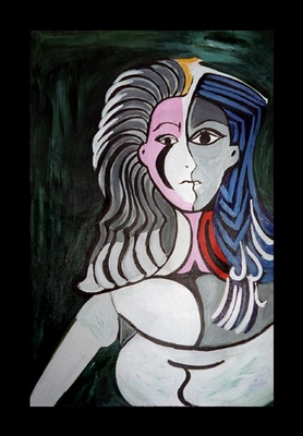 """Woman in Grey"" After Picasso"