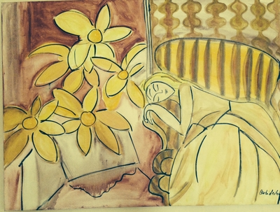 """Lady in Yellow"" After Matisse"