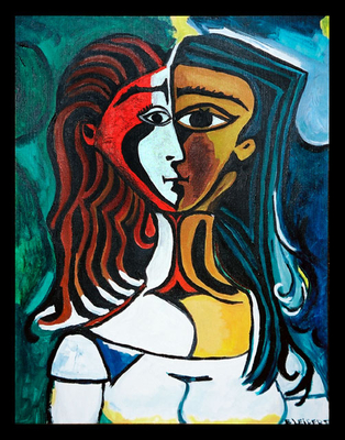 """Two Faced Woman"" After Picasso"