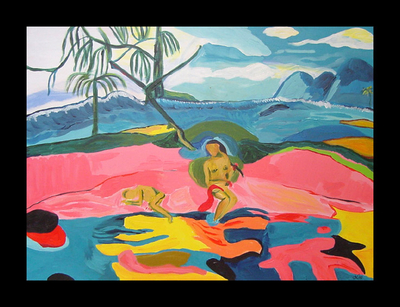 """Bora Bora""- After Gauguin"